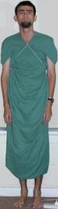 Bedsheet garment, front view